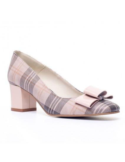 Pantofi piele box nude Office Chic - pe stoc