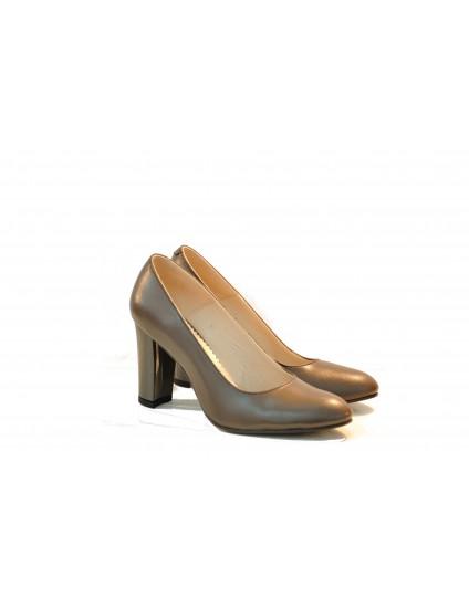 Pantofi Office Clasic piele naturala, gri - disponibili pe orice culoare
