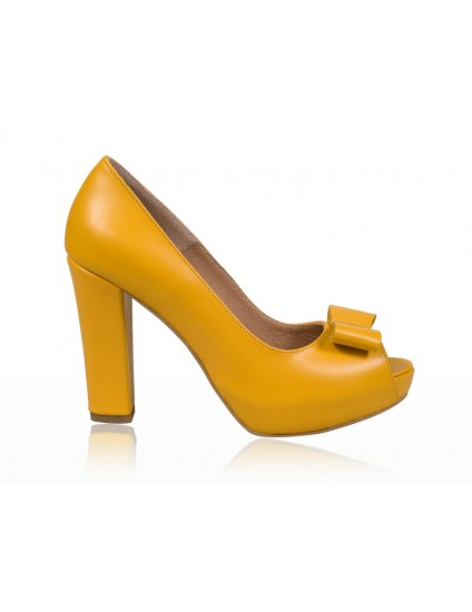 Pantofi dama piele Galben N7  - orice  culoare