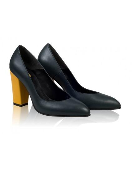 Pantofi Stiletto Toc Gros Negru N11 - orice culoare