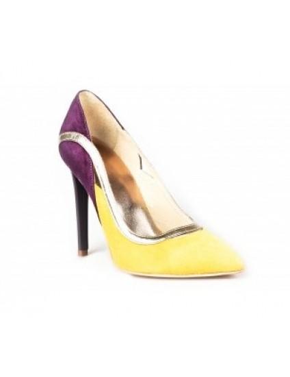 Pantofi Stiletto Fashion piele Galben - orice culoare