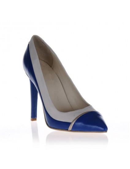 Pantofi  Stiletto Combi 2 piele naturala - orice culoare