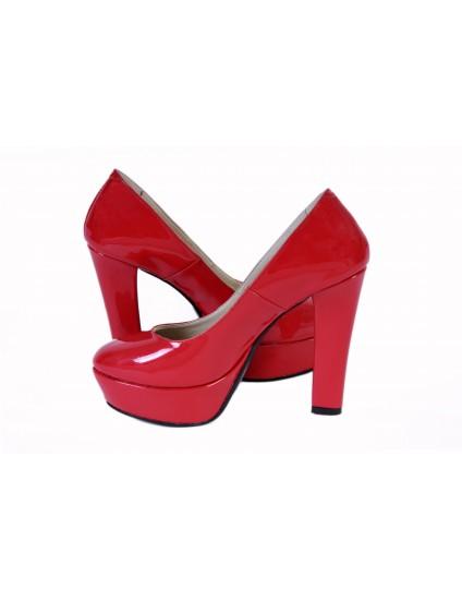 Pantofi Livi piele lacuita ,orice culoare-rosu