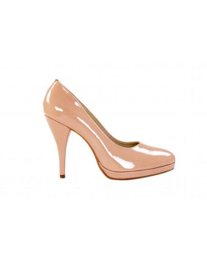 Pantofi CLASICI piele lacuita nude - pe stoc