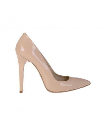 Pantofi Stiletto Very Chic  piele lacuita Nude - orice culoare