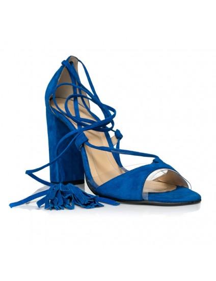 Sandale piele cu Toc Gros si Snur F8