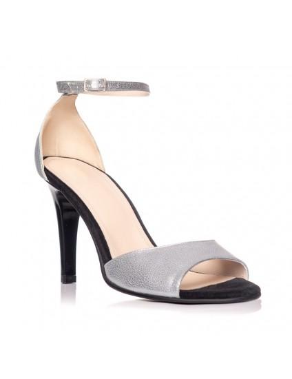 Sandale dama piele argintiu Carla S6 - Orice culoare