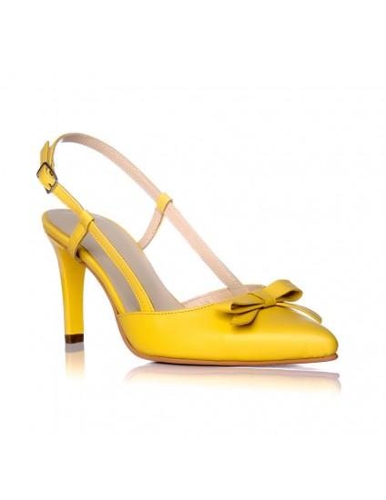 Sandale Dama Piele Serena Galben - pe stoc