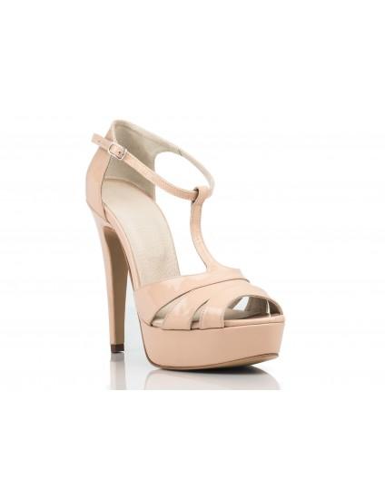 Sandale  Dama Piele lacuita Nude - pe stoc
