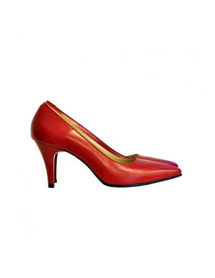Pantofi Dama Piele Rosu Stiletto DM11 - orice culoare