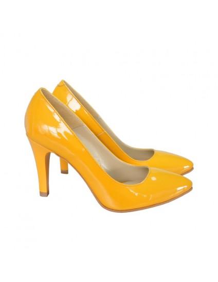 Pantofi Dama Piele Stiletto Galben D16 - orice culoare