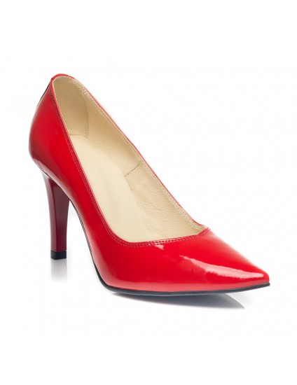 Pantofi Stiletto  Lac Rosu C9  - orice culoare