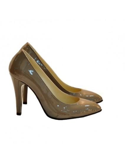 Pantofi Dama Piele Stiletto Capucino D16 - orice culoare