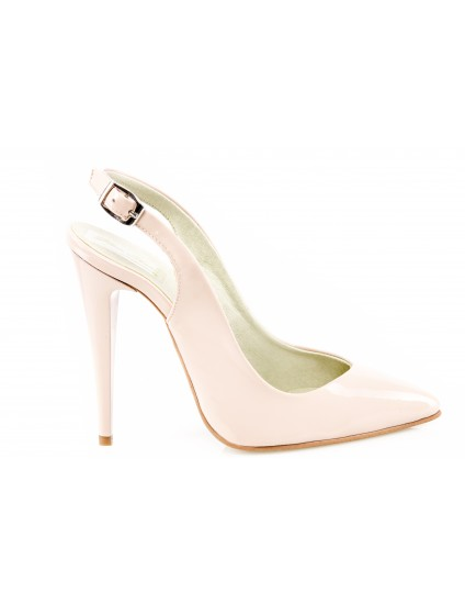 Pantofi Stiletto decupat piele lacuita nude - orice culoare