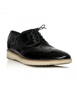 Pantofi barbati Golf Sneakers piele lacuita negru