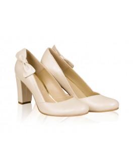 Pantofi mireasa N7 cu fundita - orice culoare